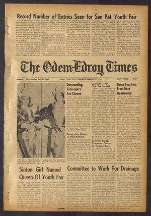 Primary view of object titled 'The Odem-Edroy Times (Odem, Tex.), Vol. 17, No. 61, Ed. 1 Thursday, January 23, 1969'.