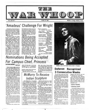 Primary view of object titled 'The War Whoop (Abilene, Tex.), Vol. 64, No. 4, Ed. 1, Friday, October 10, 1986'.