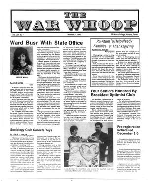 Primary view of object titled 'The War Whoop (Abilene, Tex.), Vol. 64, No. 7, Ed. 1, Friday, November 21, 1986'.