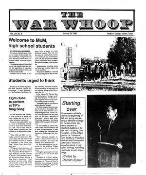 The War Whoop (Abilene, Tex.), Vol. 65, No. 8, Ed. 1, Friday, January 29, 1988