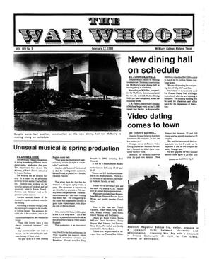 Primary view of object titled 'The War Whoop (Abilene, Tex.), Vol. 65, No. 9, Ed. 1, Friday, February 12, 1988'.