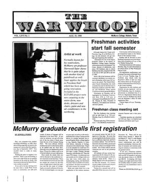 Primary view of object titled 'The War Whoop (Abilene, Tex.), Vol. 66, No. 1, Ed. 1, Friday, August 19, 1988'.