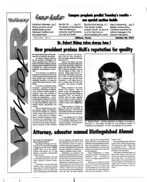McMurry University War Whoop (Abilene, Tex.), Vol. 70, No. 6, Ed. 1, Friday, October 30, 1992
