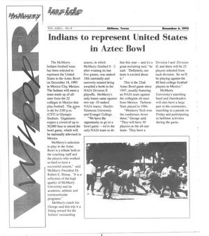 Primary view of object titled 'McMurry University War Whoop (Abilene, Tex.), Vol. 71, No. 8, Ed. 1, Monday, December 6, 1993'.