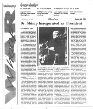Primary view of object titled 'McMurry University War Whoop (Abilene, Tex.), Vol. 71, No. 13, Ed. 1, Monday, March 28, 1994'.