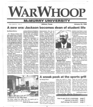 Primary view of object titled 'War Whoop (Abilene, Tex.), Vol. 73, No. 9, Ed. 1, Sunday, January 22, 1995'.