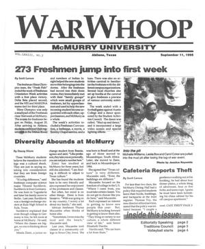 Primary view of object titled 'War Whoop (Abilene, Tex.), Vol. 73, No. 2, Ed. 1, Monday, September 11, 1995'.