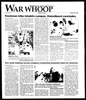 Primary view of object titled 'McMurry University War Whoop (Abilene, Tex.), Vol. 39, No. 1, Ed. 1, Monday, August 26, 1996'.