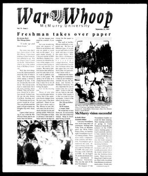 Primary view of object titled 'War Whoop (Abilene, Tex.), Vol. 75, No. 1, Ed. 1, Tuesday, September 23, 1997'.