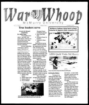 Primary view of object titled 'War Whoop (Abilene, Tex.), Vol. 75, No. 2, Ed. 1, Monday, October 6, 1997'.