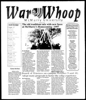 Primary view of object titled 'War Whoop (Abilene, Tex.), Vol. 75, No. 3, Ed. 1, Monday, October 20, 1997'.