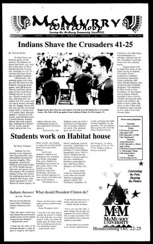 McMurry War Whoop (Abilene, Tex.), Vol. 75, No. 2, Ed. 1, Thursday, October 8, 1998