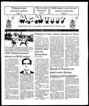 McMurry War Whoop (Abilene, Tex.), Vol. 75, No. 8, Ed. 1, Wednesday, March 3, 1999
