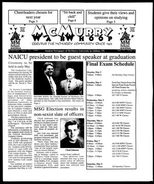McMurry War Whoop (Abilene, Tex.), Vol. 75, No. 11, Ed. 1, Wednesday, April 21, 1999