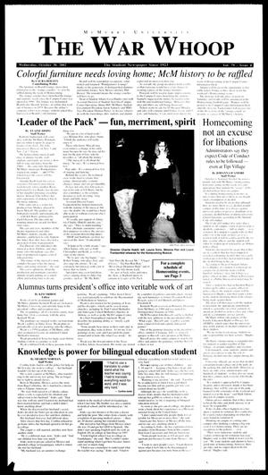 McMurry University, The War Whoop (Abilene, Tex.), Vol. 79, No. 4, Ed. 1, Wednesday, October 30, 2002