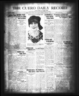 The Cuero Daily Record (Cuero, Tex.), Vol. 67, No. 109, Ed. 1 Monday, November 7, 1927
