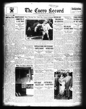 The Cuero Record (Cuero, Tex.), Vol. 40, No. 170, Ed. 1 Tuesday, July 17, 1934