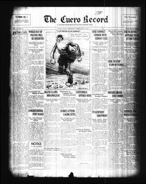 Primary view of object titled 'The Cuero Record (Cuero, Tex.), Vol. 42, No. 48, Ed. 1 Thursday, February 27, 1936'.
