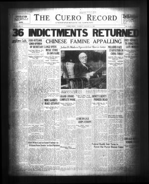 The Cuero Record (Cuero, Tex.), Vol. 36, No. 12, Ed. 1 Tuesday, January 14, 1930