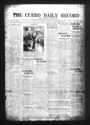 The Cuero Daily Record (Cuero, Tex.), Vol. 63, No. 50, Ed. 1 Friday, August 28, 1925