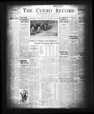 The Cuero Record (Cuero, Tex.), Vol. 36, No. 63, Ed. 1 Friday, March 14, 1930