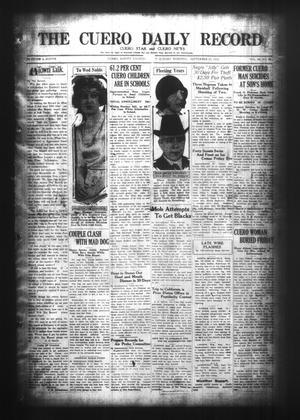 Primary view of object titled 'The Cuero Daily Record (Cuero, Tex.), Vol. 63, No. 69, Ed. 1 Sunday, September 20, 1925'.