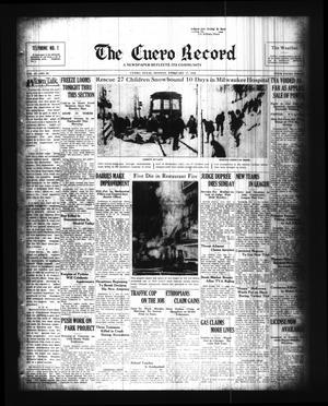 Primary view of The Cuero Record (Cuero, Tex.), Vol. 42, No. 39, Ed. 1 Monday, February 17, 1936