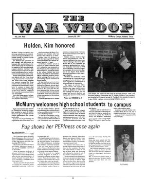 Primary view of object titled 'The War Whoop (Abilene, Tex.), Vol. 64, No. 8, Ed. 1, Friday, January 30, 1987'.