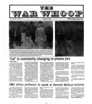 Primary view of object titled 'The War Whoop (Abilene, Tex.), Vol. 64, No. 10, Ed. 1, Friday, February 27, 1987'.