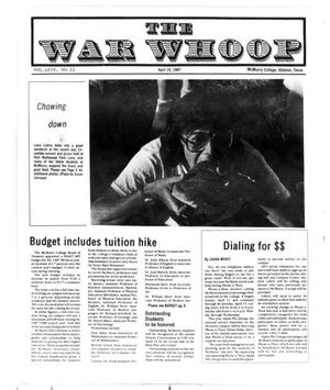 Primary view of object titled 'The War Whoop (Abilene, Tex.), Vol. 64, No. 12, Ed. 1, Friday, April 10, 1987'.