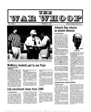 The War Whoop (Abilene, Tex.), Vol. 65, No. 3, Ed. 1, Friday, September 25, 1987