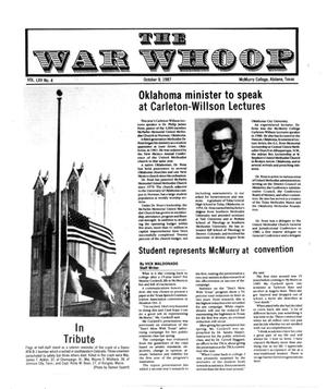The War Whoop (Abilene, Tex.), Vol. 65, No. 4, Ed. 1, Friday, October 9, 1987
