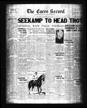 Primary view of The Cuero Record (Cuero, Tex.), Vol. 42, No. 95, Ed. 1 Wednesday, April 22, 1936
