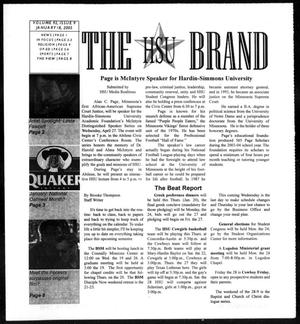 Primary view of object titled 'The HSU Brand (Abilene, Tex.), Vol. 92, No. 9, Ed. 1, Tuesday, January 18, 2005'.