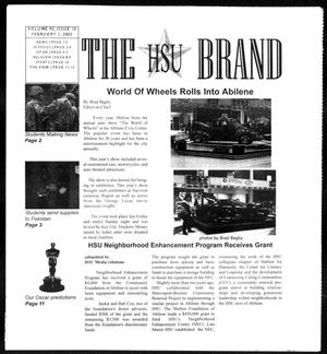 Primary view of object titled 'The HSU Brand (Abilene, Tex.), Vol. 92, No. 10, Ed. 1, Tuesday, February 1, 2005'.