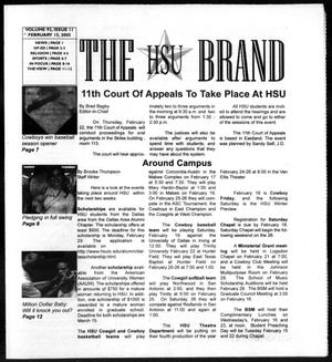 Primary view of object titled 'The HSU Brand (Abilene, Tex.), Vol. 92, No. 11, Ed. 1, Tuesday, February 15, 2005'.