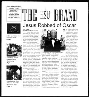 Primary view of object titled 'The HSU Brand (Abilene, Tex.), Vol. 92, No. 12, Ed. 1, Tuesday, March 1, 2005'.