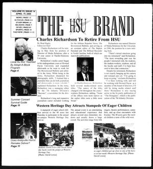 The HSU Brand (Abilene, Tex.), Vol. 92, No. 14, Ed. 1, Tuesday, April 19, 2005