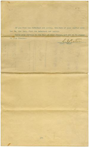 Documents related to the case of The State of Texas vs. Jerome Loper, cause no. 565, no. 567, and no. 4191, 1932