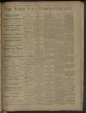 Primary view of Fort Worth Daily Democrat-Advance. (Fort Worth, Tex.), Vol. 6, No. 37, Ed. 1 Sunday, January 29, 1882