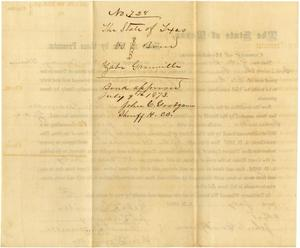 Primary view of object titled 'Documents related to the case of The State of Texas vs. Zabe Granville, cause no. 728a, 1873'.