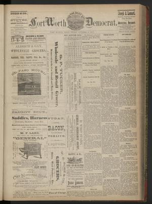 Primary view of The Daily Fort Worth Democrat. (Fort Worth, Tex.), Vol. 2, No. 88, Ed. 1 Friday, October 12, 1877