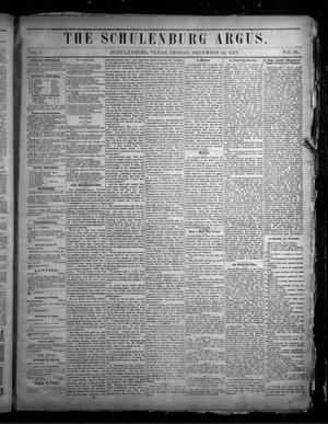 Primary view of The Schulenburg Argus. (Schulenburg, Tex.), Vol. 1, No. 38, Ed. 1 Friday, December 14, 1877