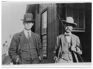 Primary view of object titled 'Portrait of Waldo E. Haisley and Dave Odem'.