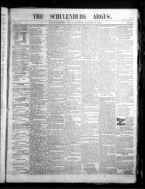 The Schulenburg Argus. (Schulenburg, Tex.), Vol. 1, No. 21, Ed. 1 Friday, August 17, 1877