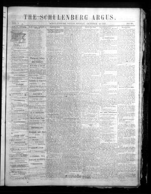 The Schulenburg Argus. (Schulenburg, Tex.), Vol. 1, No. 30, Ed. 1 Friday, October 19, 1877