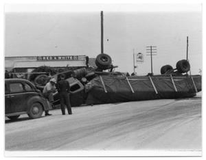 Primary view of object titled 'Overturned Truck'.