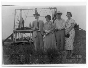 Primary view of object titled 'Two Couples at Willacy Oil Well'.
