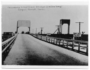 Primary view of object titled 'Causeway and Railroad Bridge'.