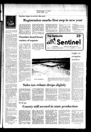 The Seminole Sentinel (Seminole, Tex.), Vol. 75, No. 84, Ed. 1 Sunday, August 22, 1982